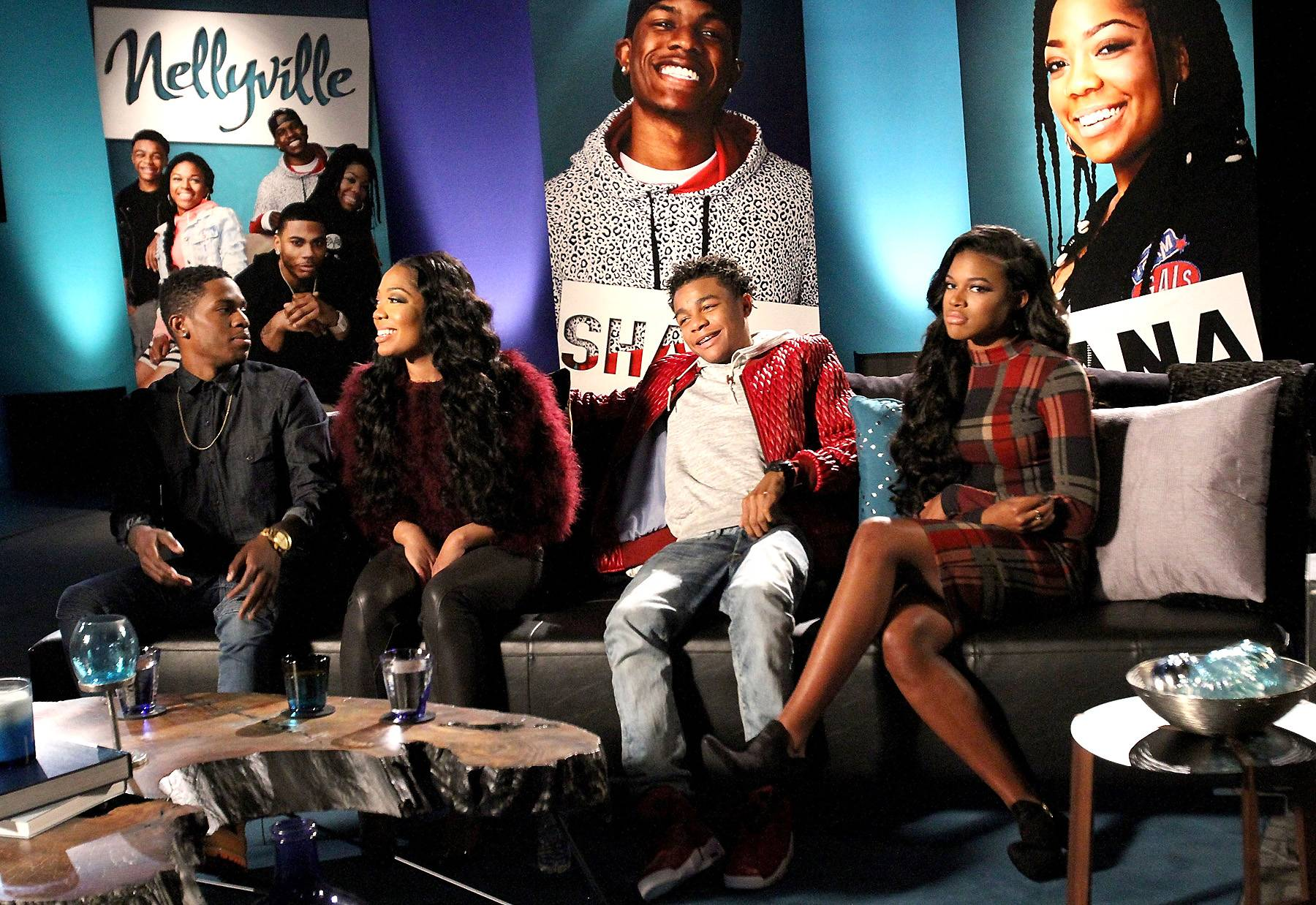 Cut Up Kids - The Nellyville clan doing what they do best — joking around.   (Photo: Maury Phillips/WireImage)