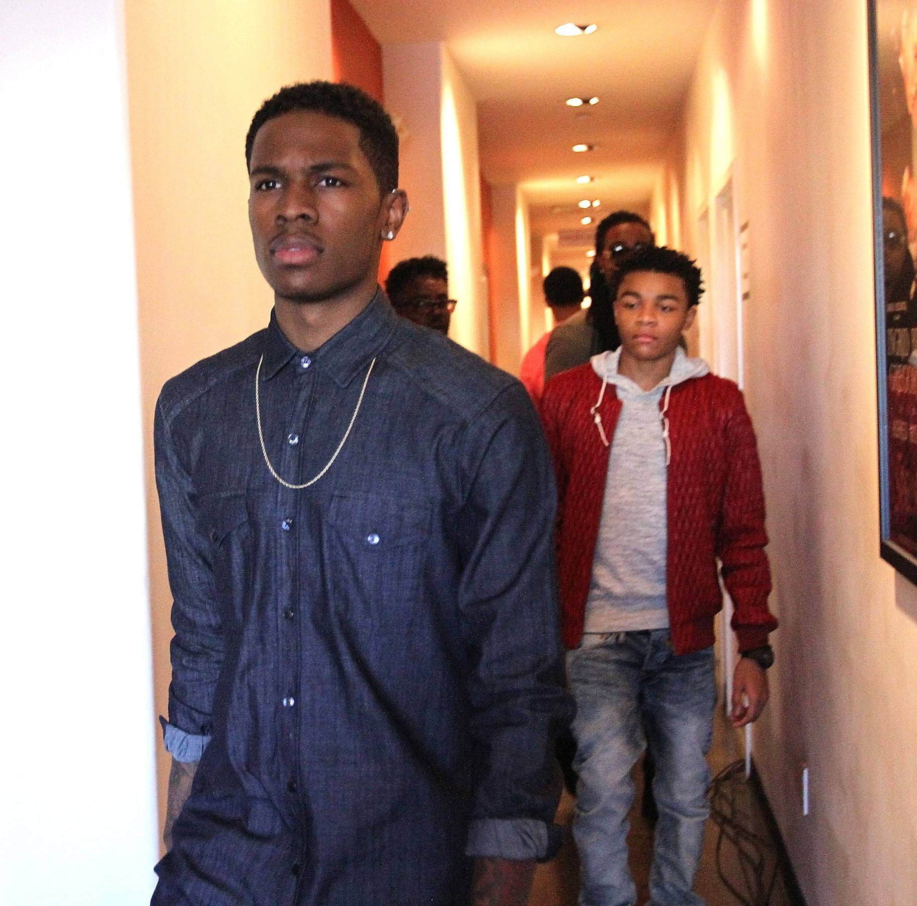 'We Dem Boyz' - Lil' Shawn (a.k.a. Tab of JGERetro) and Tre swag backstage.   (Photo: Maury Phillips/WireImage)