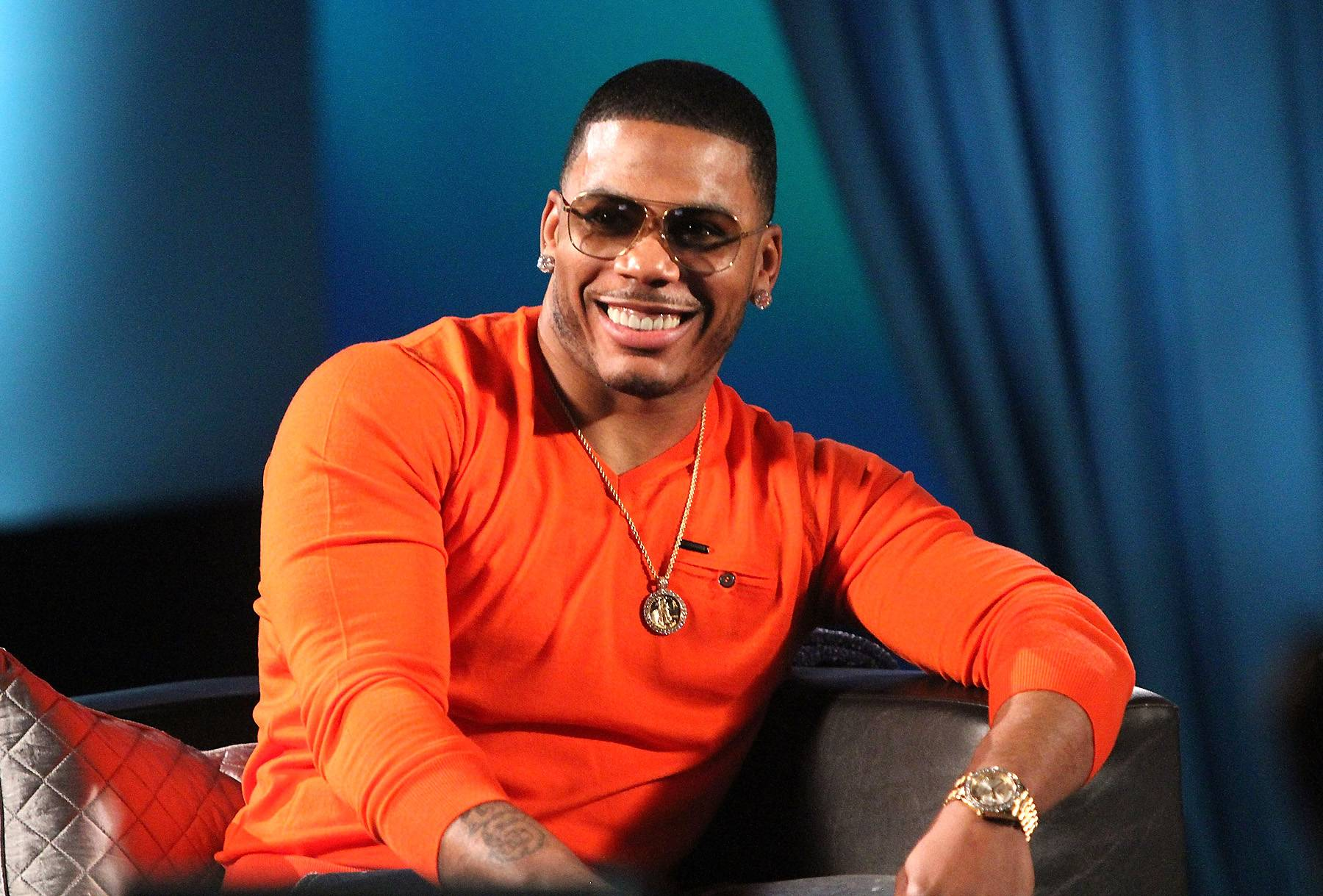 Up to Something - What's Nelly about to do?  (Photo: Maury Phillips/WireImage)