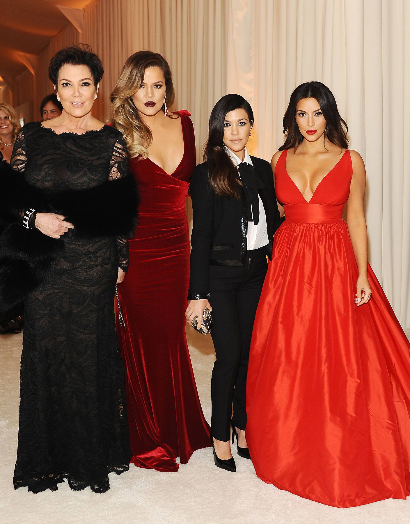 """Pregnant Kardashian? - There's a new KUWTK trailer that depicts a pregnancy test that appears to read """"pregnant,"""" so now speculation is running rampant about which Kardashian might have a bun in the oven. Khloe gave us a hint, """"I think we can rule miss menopause out of the equation,"""" she posted on Instagram. Duh! But seriously, who do you think it is?   (Photo: Stefanie Keenan/Getty Images for Chopard)"""