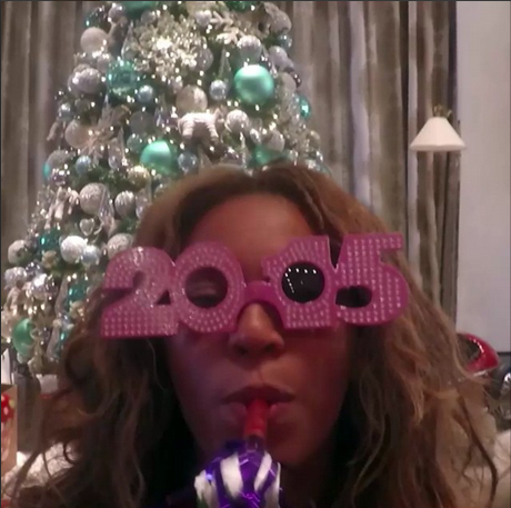 Celebrities Ring in 2015 - Celebrities rang in 2015 in various ways that they shared on social media. Beyonc? seems to have kept it low-key while Rihanna, Diddy and others glammed it up for party time. We can't wait to see what else they have in store for us for 2015.   (Photo: Beyonc? via Instagram)