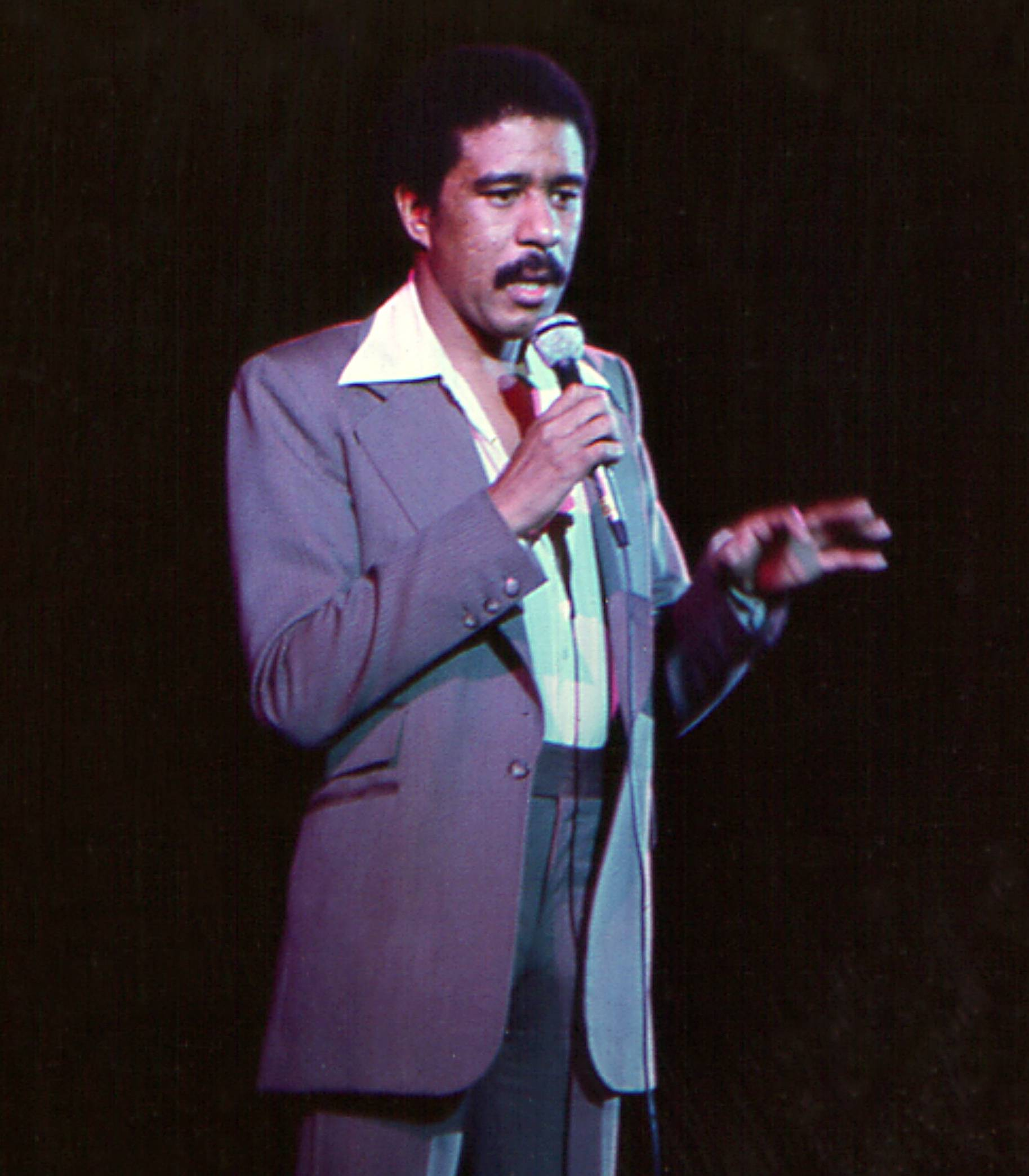 Richard Pryor - In a time when racial tensions were high, Richard Pryor used comedy to get a point across to his audience. One of the places that he did this was on the Apollo stage.(Photo: Michael Ochs Archives/Getty Images)