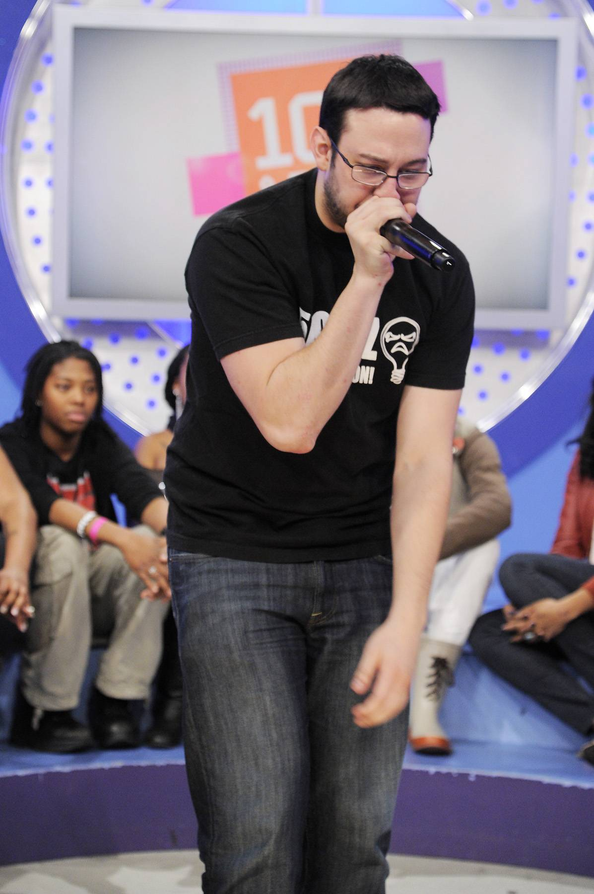 I Got This - Audience member performs for the crowd during commercial break at 106 & Park, January 12, 2012. (Photo: John Ricard / BET)
