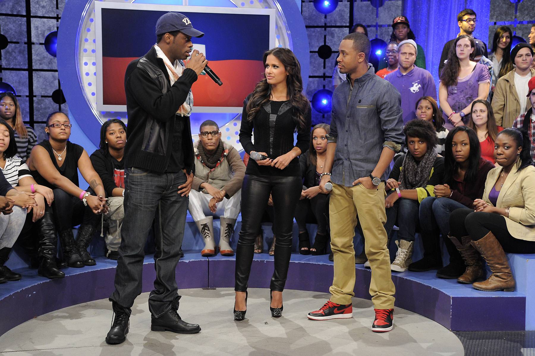 It's Gonna Be Hard - Pras discusses the recovery of Haiti with Rocsi Diaz and Terrence J at 106 & Park, January 12, 2012. (Photo: John Ricard / BET)