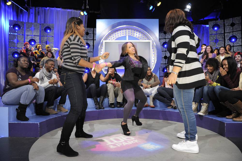 Dance-Off - Dance competition during commercial break at 106 & Park, January 12, 2012. (Photo: John Ricard / BET)