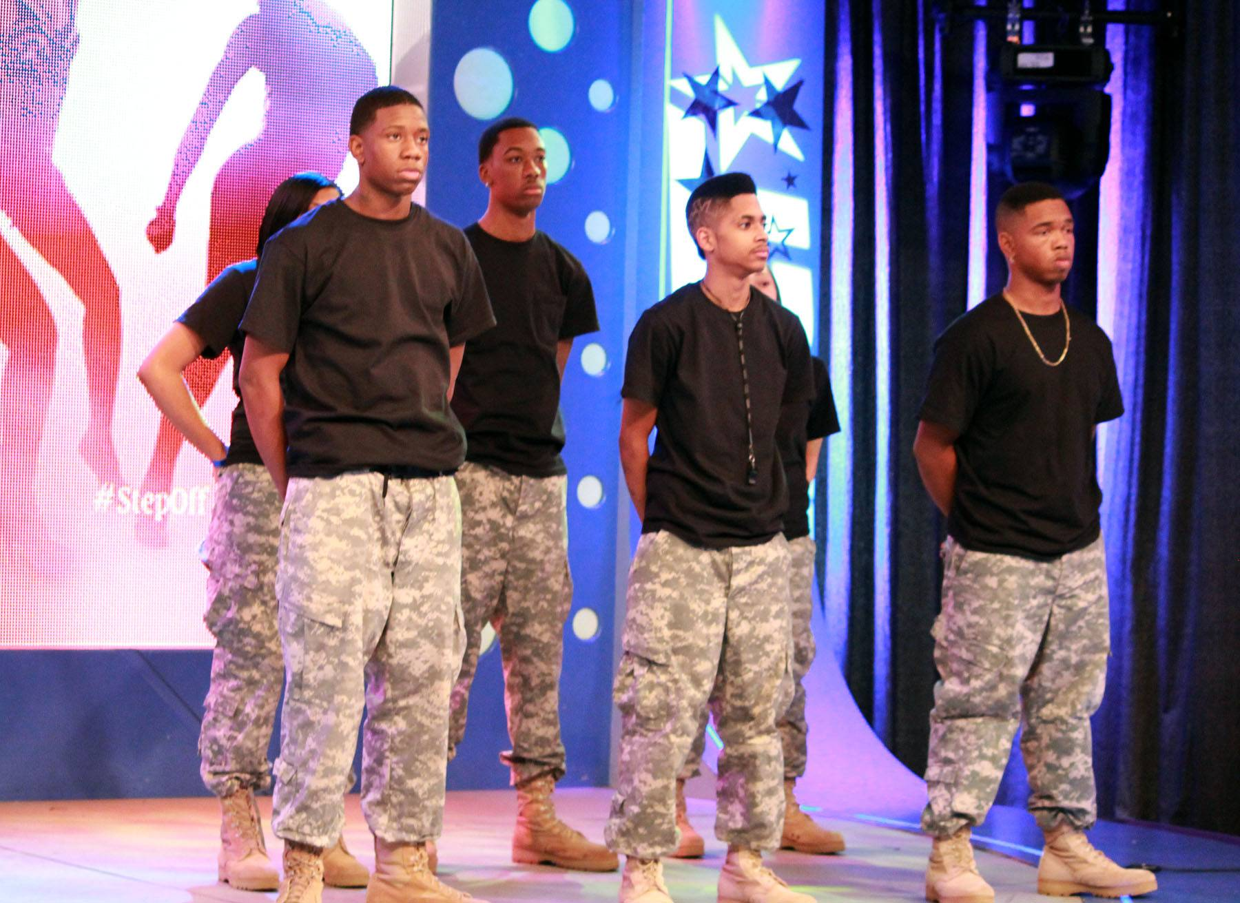 We're Ready - Wild Out Wednesday performers on set at 106 & Park. (photo by: Slim)