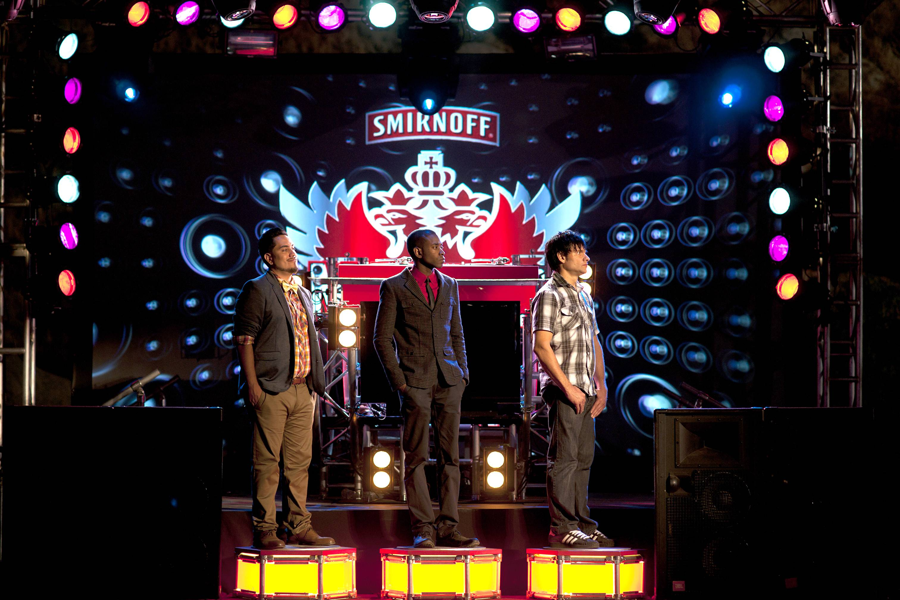 The Final 3 - Getting lectured by the judges to bring it before the final challenge. (Photo: Moses Mitchell/BET)