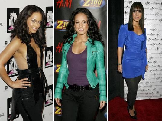 Alicia Keys - Three views of the fashionable Alicia Keys.