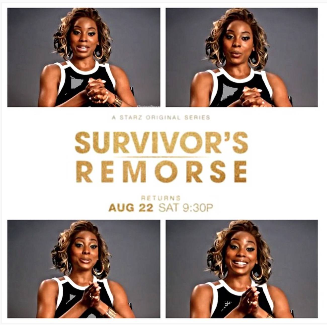 Erica Was Filming Another Show - You may have spotted Erica on the hit series Survivor's Remorse. She's back for season two, which premieres later this month. That means Erica twice a week, for all those interested.  (Photo: Erica Ash via Instagram)