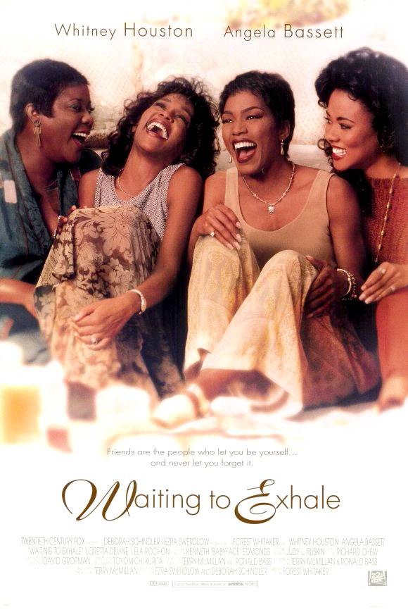 Waiting to Exhale, Saturday at 7P/6C - Loretta Devine, Lela Rochon, Angela Bassett and the late Whitney Houston relax, relate and release. Encore presentation on Sunday at 3P/2C.(Photo: Twentieth Century Fox Pictures)