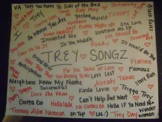 Trey Songz Fans - Which song is her favorite? This fan seems to know them all.