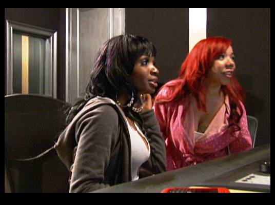 """G.A.P. - Tiny and Keisha, also known as Georgia Peaches, rehearse their single """"Hard Beat"""" for the show."""