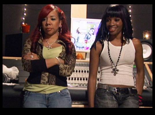 Double Team - Tiny and Kiesha give the OMG Girlz a pep talk.