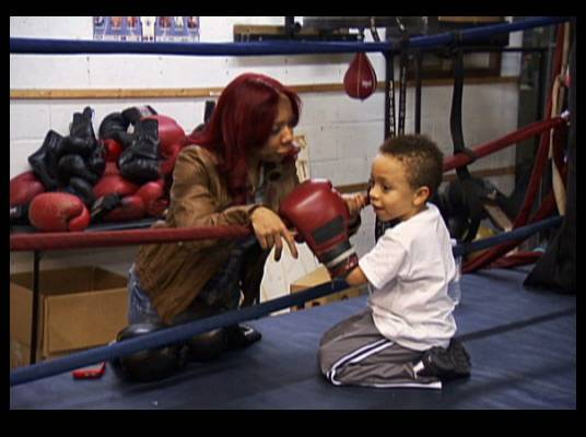 Boxing King - Tiny takes King to a boxing lesson. He's a natural.