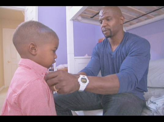 First of Many - Terry gets Isaiah ready for his first day of school.
