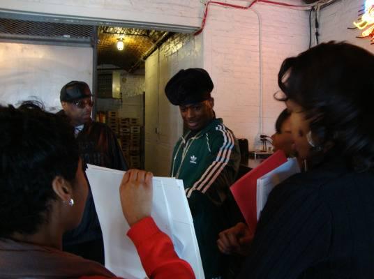 Behind The Scenes - DJ Kay Slay and Memphitz go over the script.