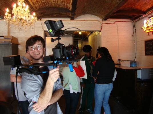 Behind The Scenes - He loves what he does. :)