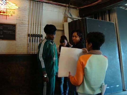 Behind The Scenes - Memphitz and DJ Diamond Kuts reading through the script