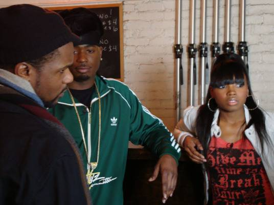 Behind The Scenes - Memphitz & DJ Diamond Kuts getting direction from our series producer Rahman.