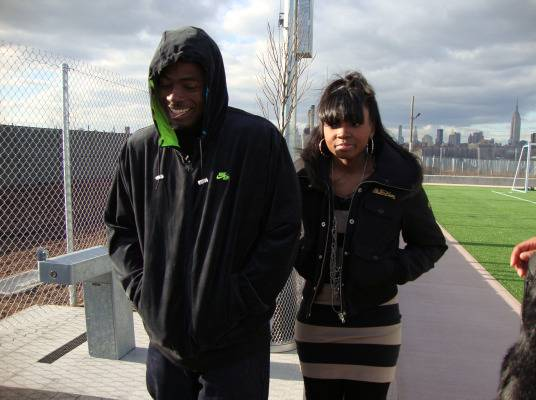 Behind The Scenes - Memphitz and DJ Diamond Kuts are troopers in the freezing cold!