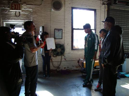 Behind The Scenes - DJ Kay Slay joins Memphitz and DJ Diamond Kuts on set. 3, 2, 1...