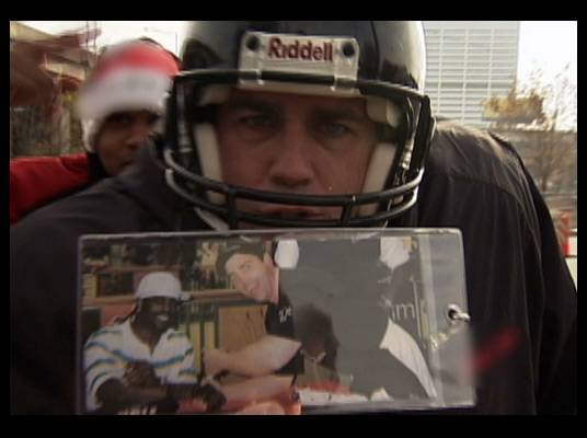 #1 Fan - A group of Atlanta Falcons fans still show support for Michael Vick. One standout from the crowd is a Vick expert!