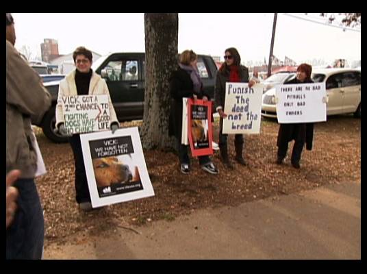 Protesters - Some Atlanta Falcons fans let Mike know they haven?t forgotten about what he did.