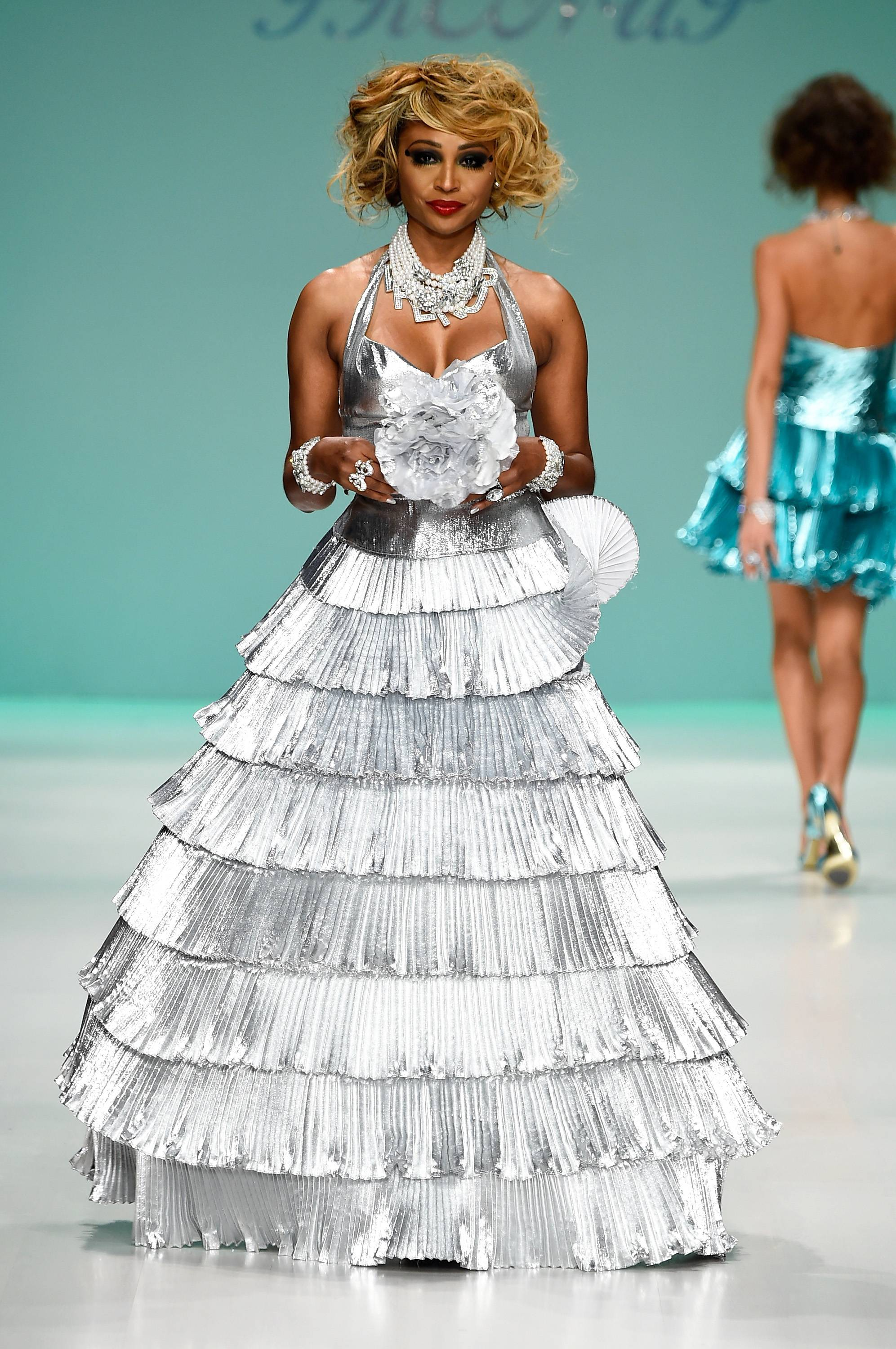 Cynthia Bailey Werqs! - Cynthia Bailey reminded us that she knows a thing or two about slaying runways. The Real Housewives of Atlanta star worked the runway at the Betsey Johnson fashion show during Mercedes-Benz Fashion Week Spring 2015 this week. YAAAAAASSSSSSS!(Photo: Frazer Harrison/Getty Images for Mercedes-Benz Fashion Week)