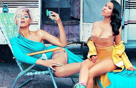 """Nicki Minaj and Beyonc? are Flawless - Nicki Minaj set the internet ablaze when she posted the above photo of she and Beyonce with the hashtag """"#WeFlawless."""" People assumed that this was part of their rumored """"Flawless"""" remix video shoot, but in reality it's from a Dazed & Confusedmagazine shoot. However, fans are still hoping that the rumors are true and are standing by for the video, even if it means waiting forever.(Photo: Nicki Minaj via Instagram)"""