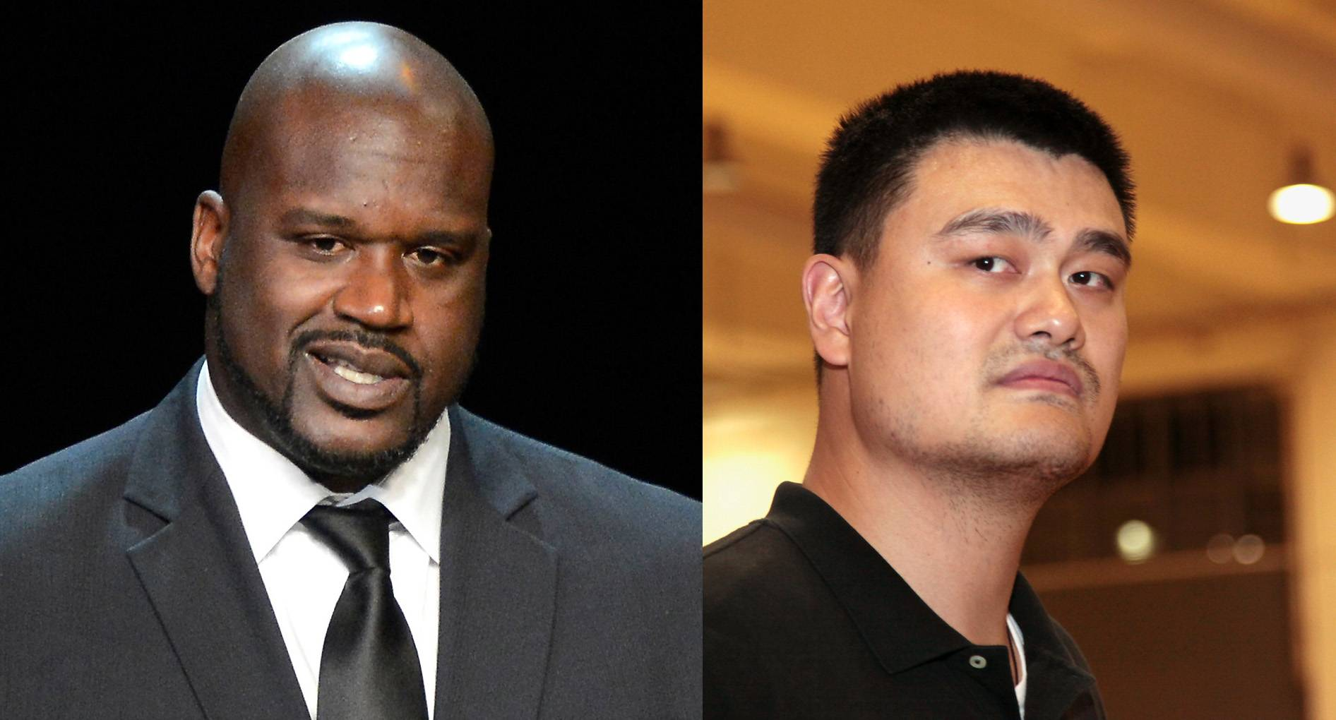 """Shaq Mocks Yao Ming's Chinese - Back in 2003, then-Los Angeles Lakers'center Shaquille O'Nealdrew the ire of Asian Americans when he taunted Yao Ming, saying, """"Tell Yao Ming, 'Ching-chong-yang-wah-ah-soh.'"""" Shaq later apologized. Come on, Shaq!(Photos from left: Kevork Djansezian/Getty Images, Kevin Lee/Getty Images)"""