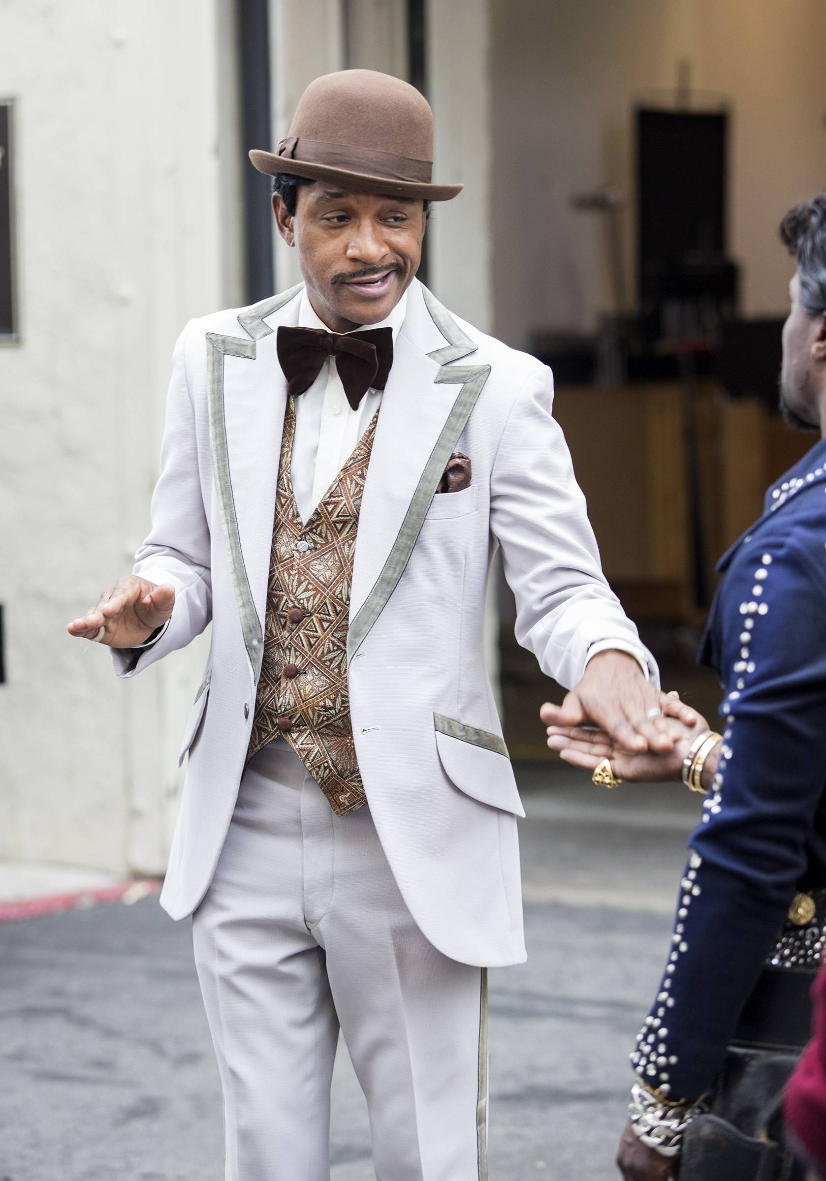 He's definitely channeling Sammy Davis Jr. with this one. - (Photo: BET)