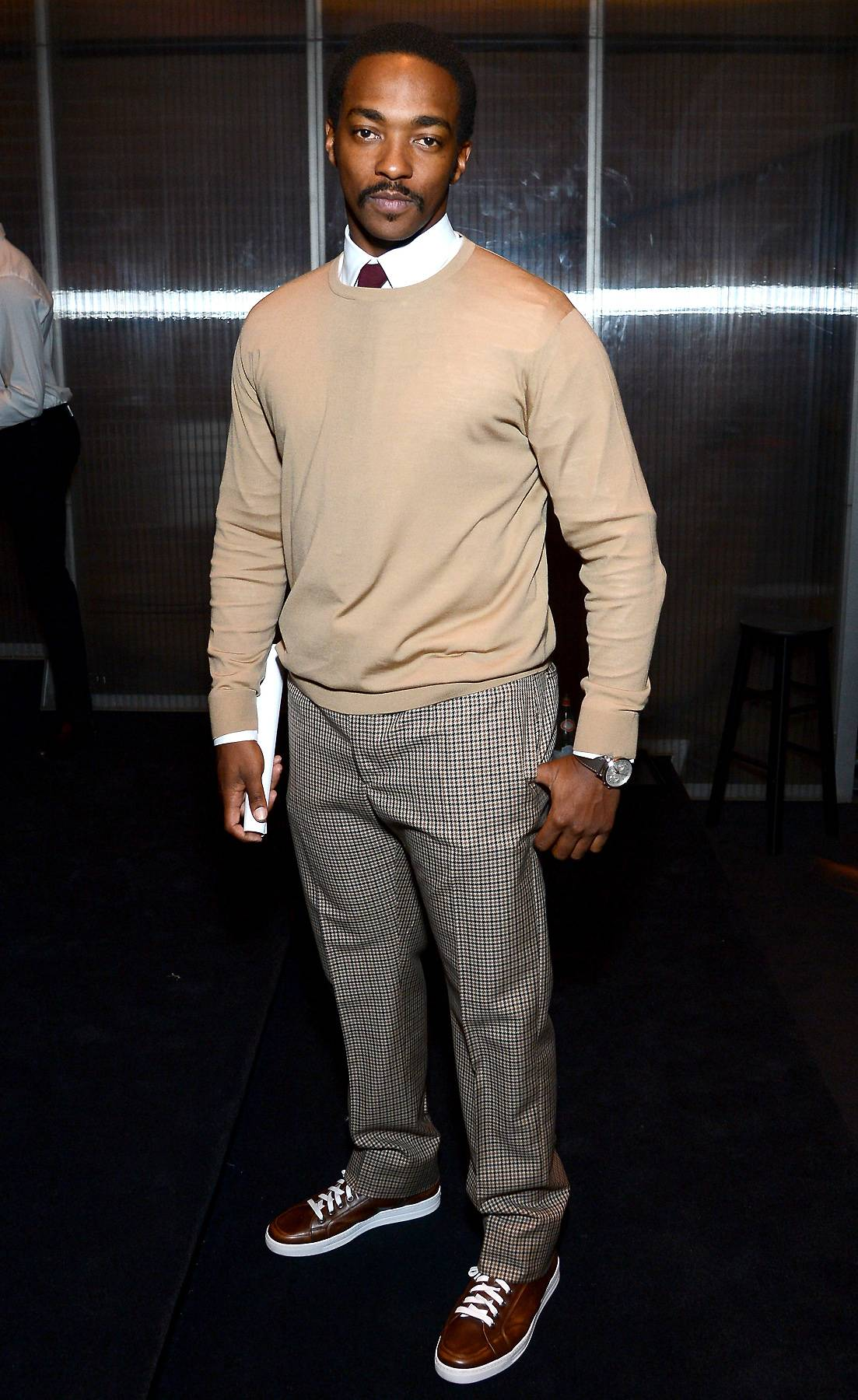 Anthony Mackie - February 28, 2014 - This man!Anthony Mackiedoesn't stop leading the acting pack, so he came to talk about his new role inRepentance.Watch a clip now!(Photo: Larry Busacca/Getty Images for Prada)