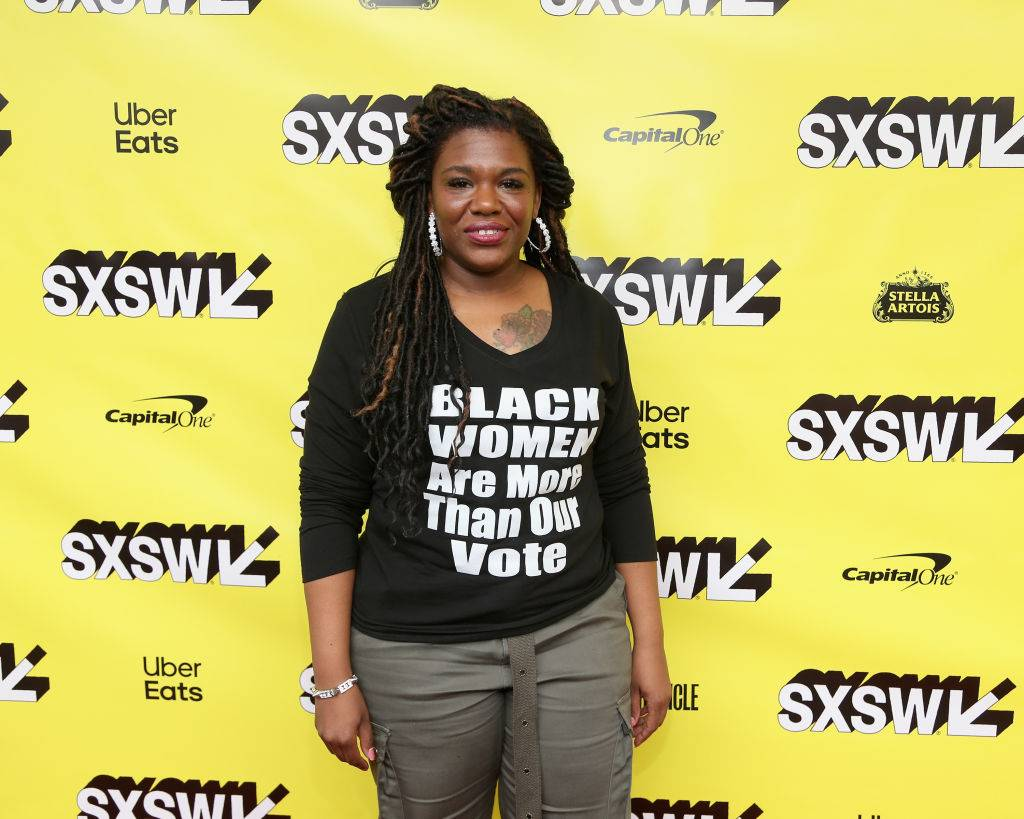 """Rep. Cori Bush - The St. Louis native just became the first Black female congresswoman to serve in the House of Representatives in Missouri, unseating William Lacy Clay, Jr. and ending a 50-year dynasty started by Clay's father. Rep. Cori Bush initially came to national attention in the Netflix documentary, Knock Down the House, which depicted her as a working-class Black woman – mother, registered nurse and ordained minister – balancing life while also running for office. Bush has also received attention after declaring she has had to find creative ways to keep up to the optics of the job. """"The system is not set up for regular people to do this,"""" she told Glamour magazine. """"I realized I couldn't just keep switching out the same four blazers! I needed some other options. And that's where thrifting comes in."""" (Photo by Gary Miller/FilmMagic)"""