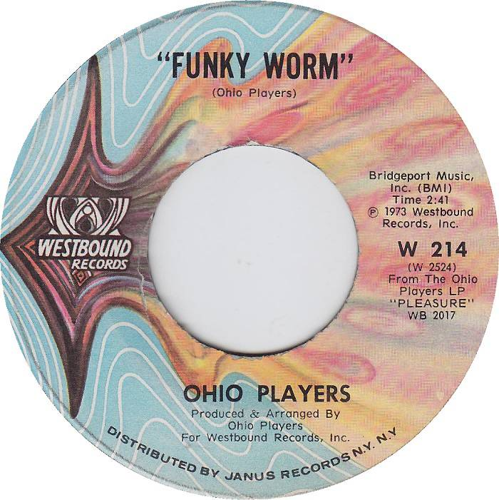 """Ohio Players, 'Funky Worm' - The Moog synthesizer whine a minute into this 1973 hit from the Ohio Players (R.I.P. Leroy """"Sugarfoot"""" Bonner) was a vital building block to West Coast hip hop, lending its winding funk to N.W.A,'s""""Gangsta Gangsta"""" and """"Dopeman,"""" Snoop Dogg's""""Serial Killa"""" and Ice Cube's""""Wicked."""" (Photo: Westbound Records)"""