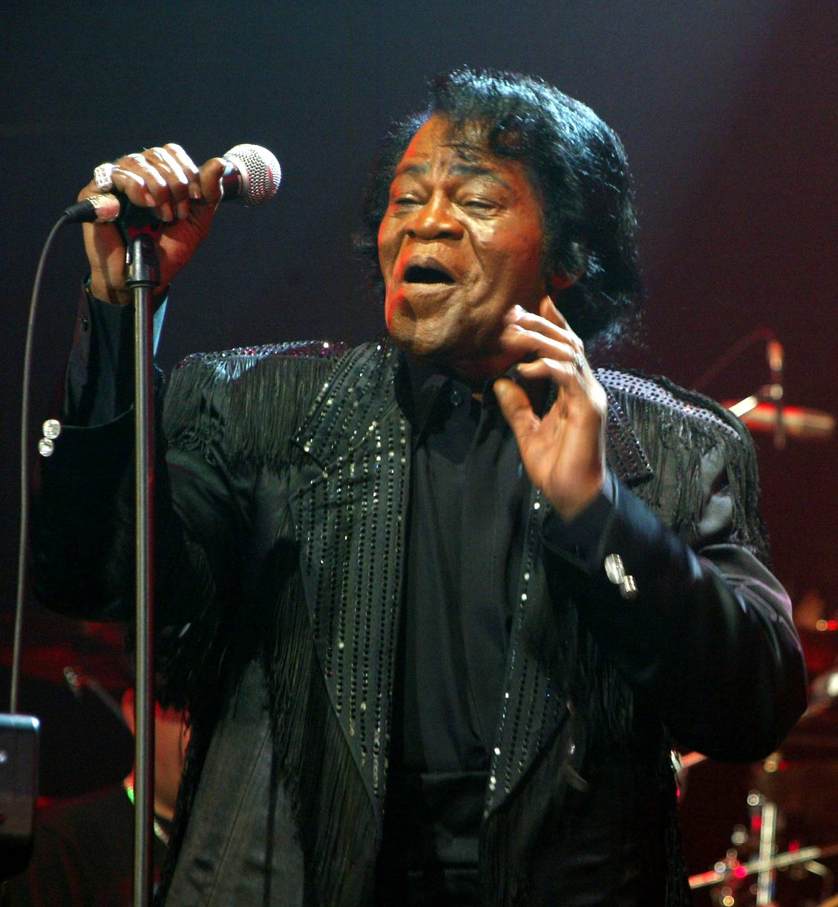 """James Brown, 'Funky Drummer' - One of the most sampled breaks of all time, it's hard for any self-respecting hip hop head to hear the heavily compressed drums that flow throughout this James Brown signature without thinking of Public Enemy (""""Bring the Noise,"""" """"Rebel Without a Pause""""), Boogie Down Productions (""""South Bronx""""), LL Cool J (""""Mama Said Knock You Out"""") and other unforgettable rap moments.  (Photo: Matthew Simmons/Getty Images)"""