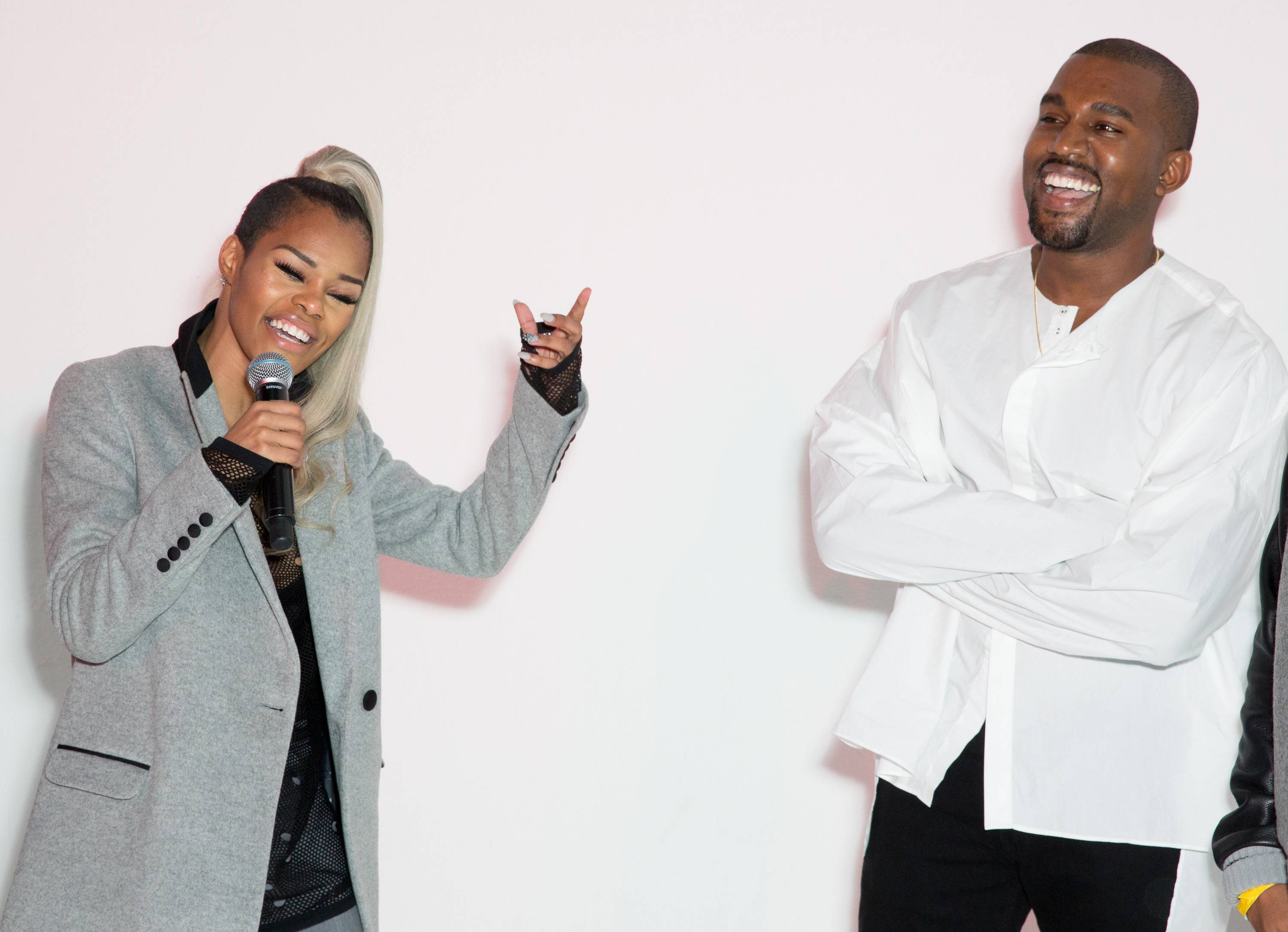 Kanye West Host's Teyana Taylor - Kanye West hosted a Teyana Taylor listening session on Monday nightat Siren Studios in Hollywood, where he gushed about how hard working Taylor is. Here's part of what he said:  What I want to say is, she bust her a** and this is her album. She put all her work into this music. Sometimes, I be a little bit less expressive because motherf**kers want to ?Michael Jackson? me to death and s**t and act like I don?t do nothing positive and all and attack me so I be scared to turn up.provides something that is so R&B, so Black, so hood, so like missing, so necessary in the marketplace and that was what was extremely interesting about what she did on Teyana Dark Fantasy motherf**kers wanted to drop Teyana  everybody always wanna drop somebody and s**t and not believe in somebody all the way through, so I?ma just go ahead and be ?Ye a...