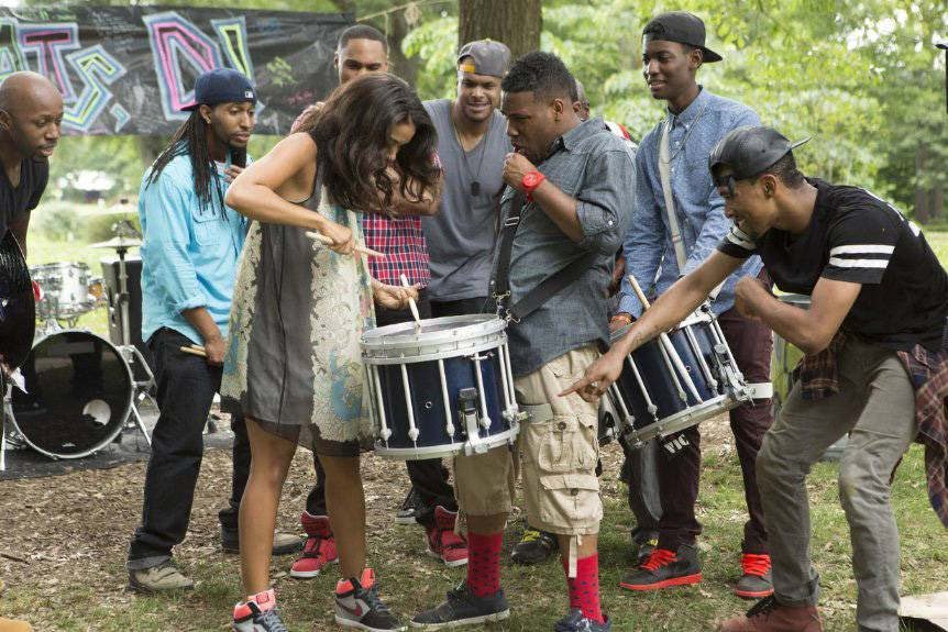 Drumline: A New Beat - Nick Cannon, Alexanra Shipp, Letoya Luckett and more from the cast of Drumline: A New Beat stop by 106 and Park tonight. Tune in at 5P/4C.  (Photo: Fox Television Studios)