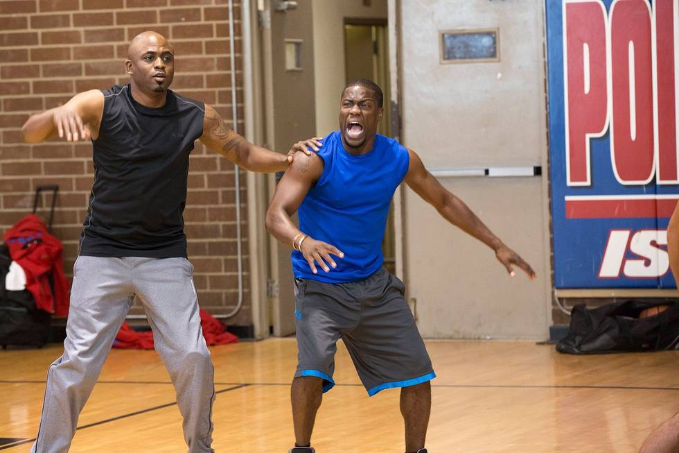 The Basketball Game - Tune in to this upcoming episode of Husbands to see if Kevin can stand up to Wayne Brady on the court.  (Photo: Tyler Golden for BET Networks)
