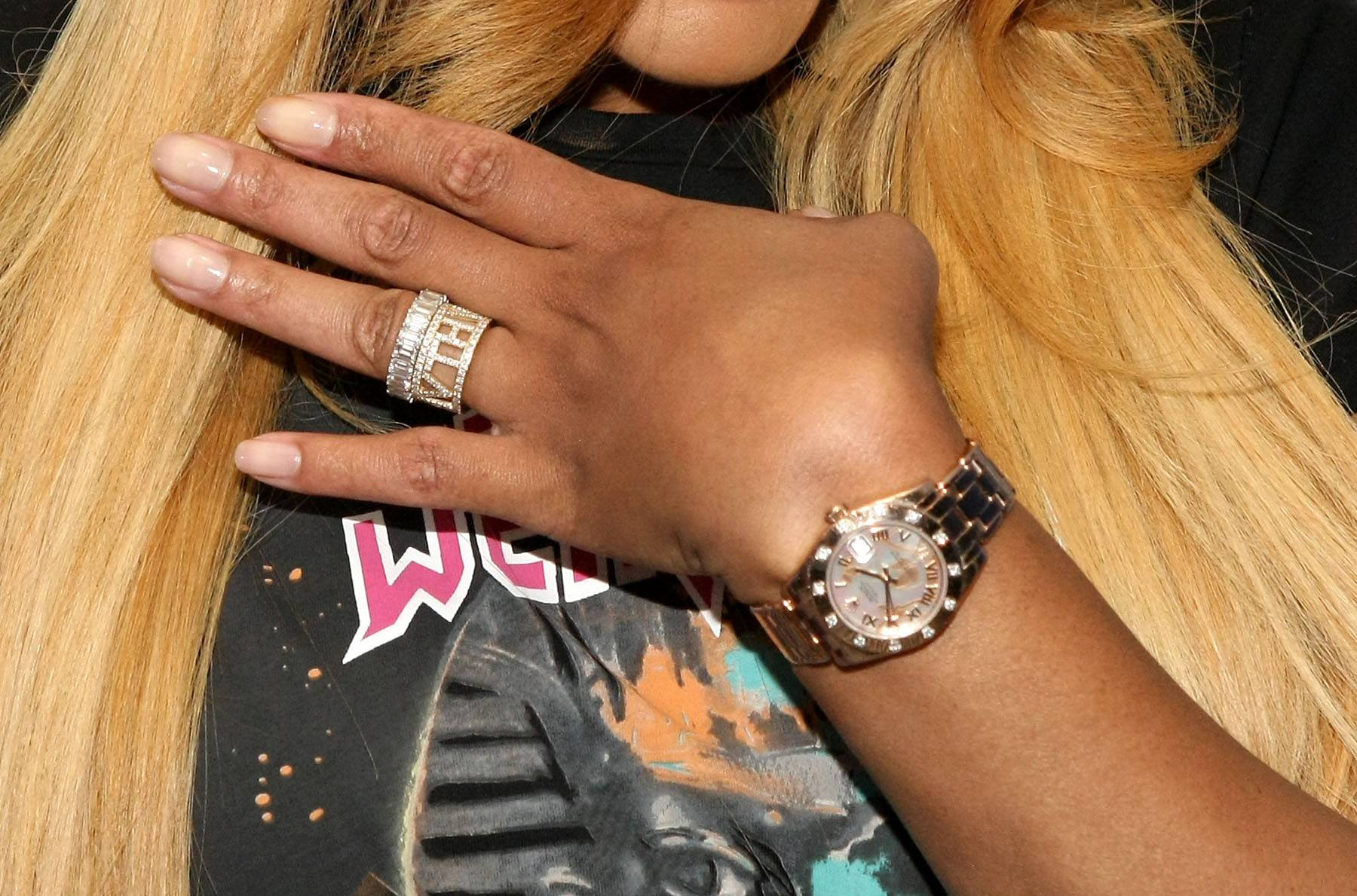 She Wears the Ring - Tamar shows off the rings on 106. (Photo: Bennett Raglin/BET/Getty Images for BET)