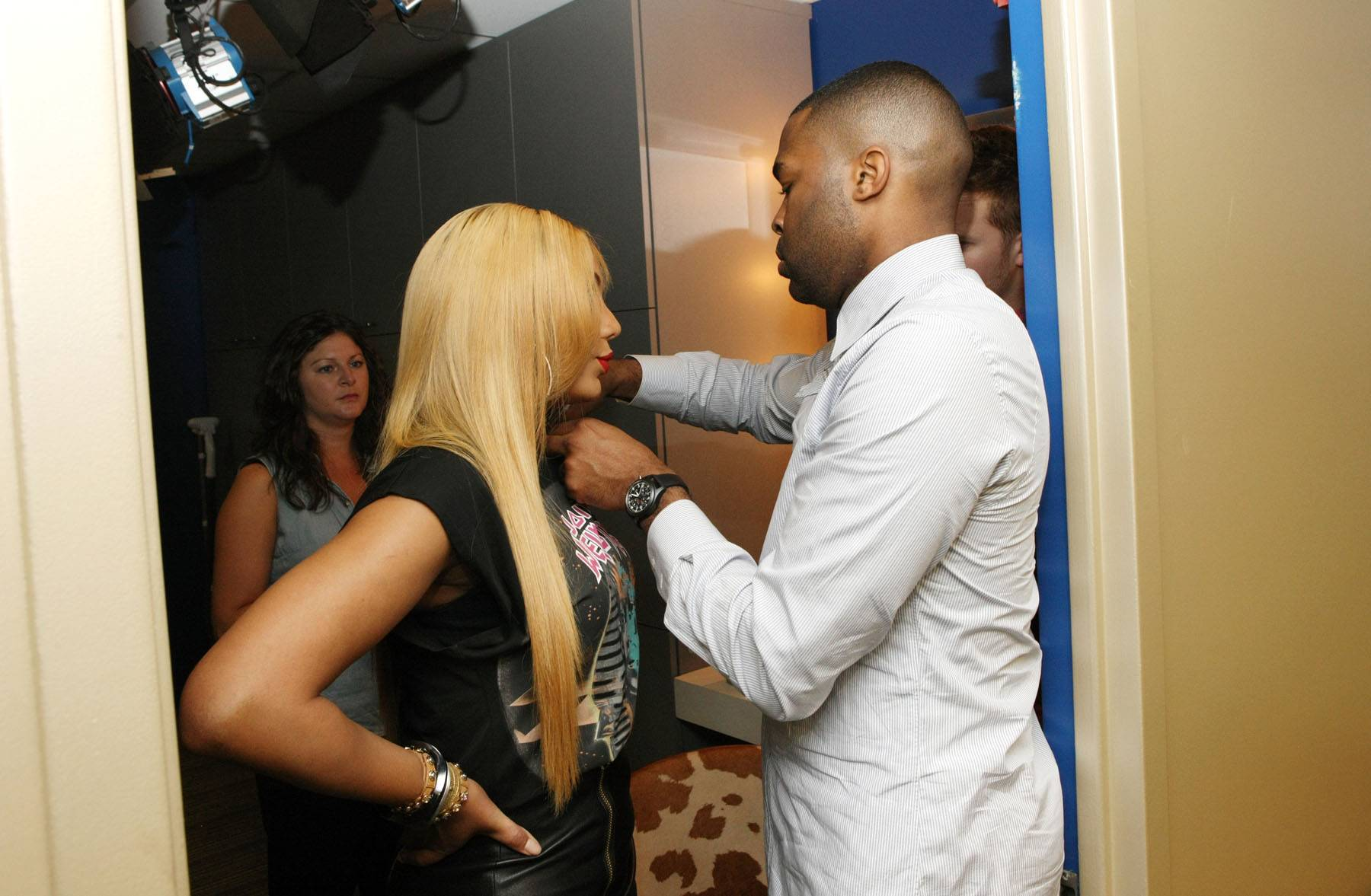 Keep It Cute - Tamar gets glammed up backstage on 106.(Photo: Bennett Raglin/BET/Getty Images for BET)