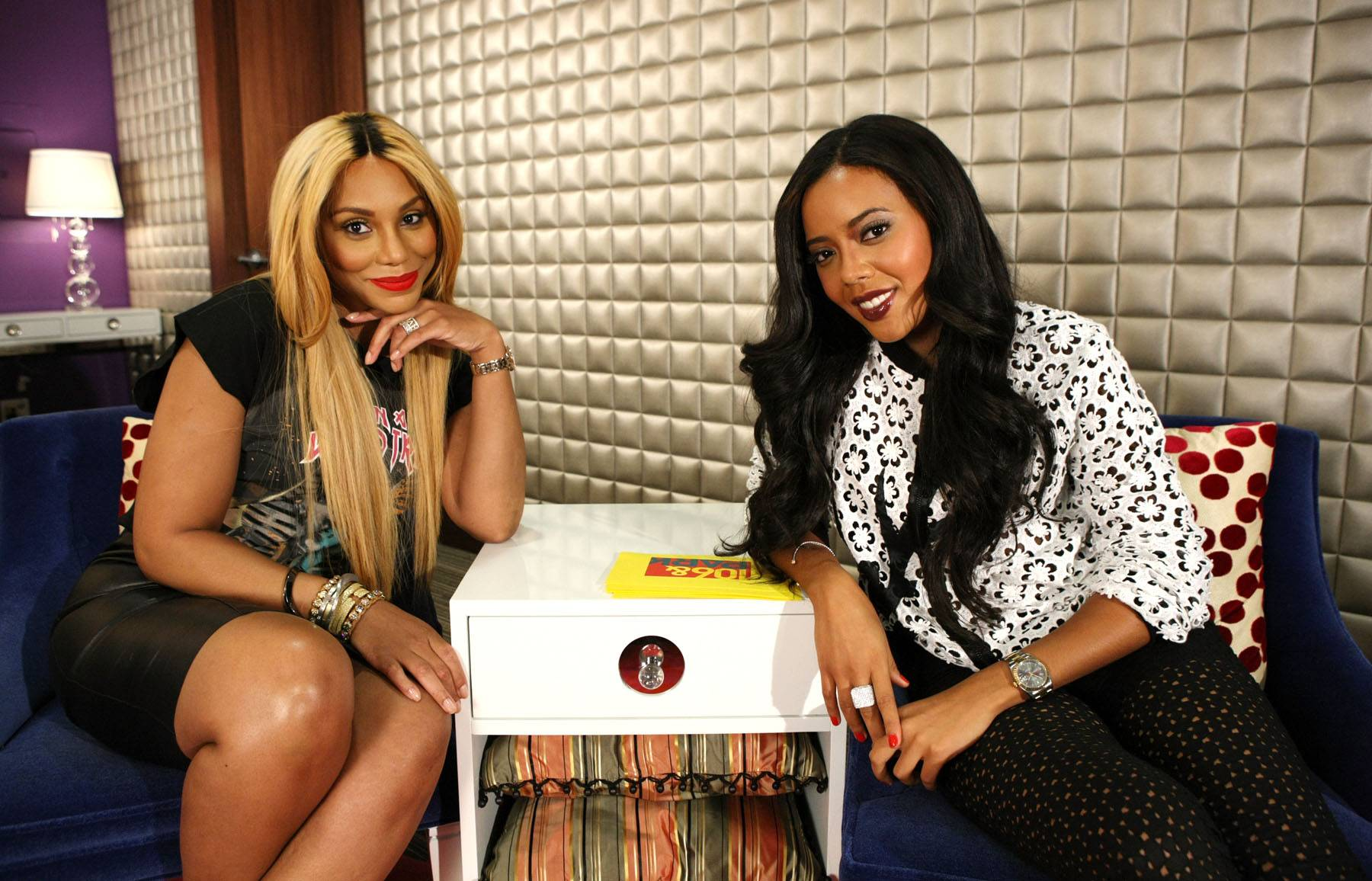 The Girls - Tamar Braxton and host Angela Simmons sit backstage to chat. (Photo: Bennett Raglin/BET/Getty Images for BET)