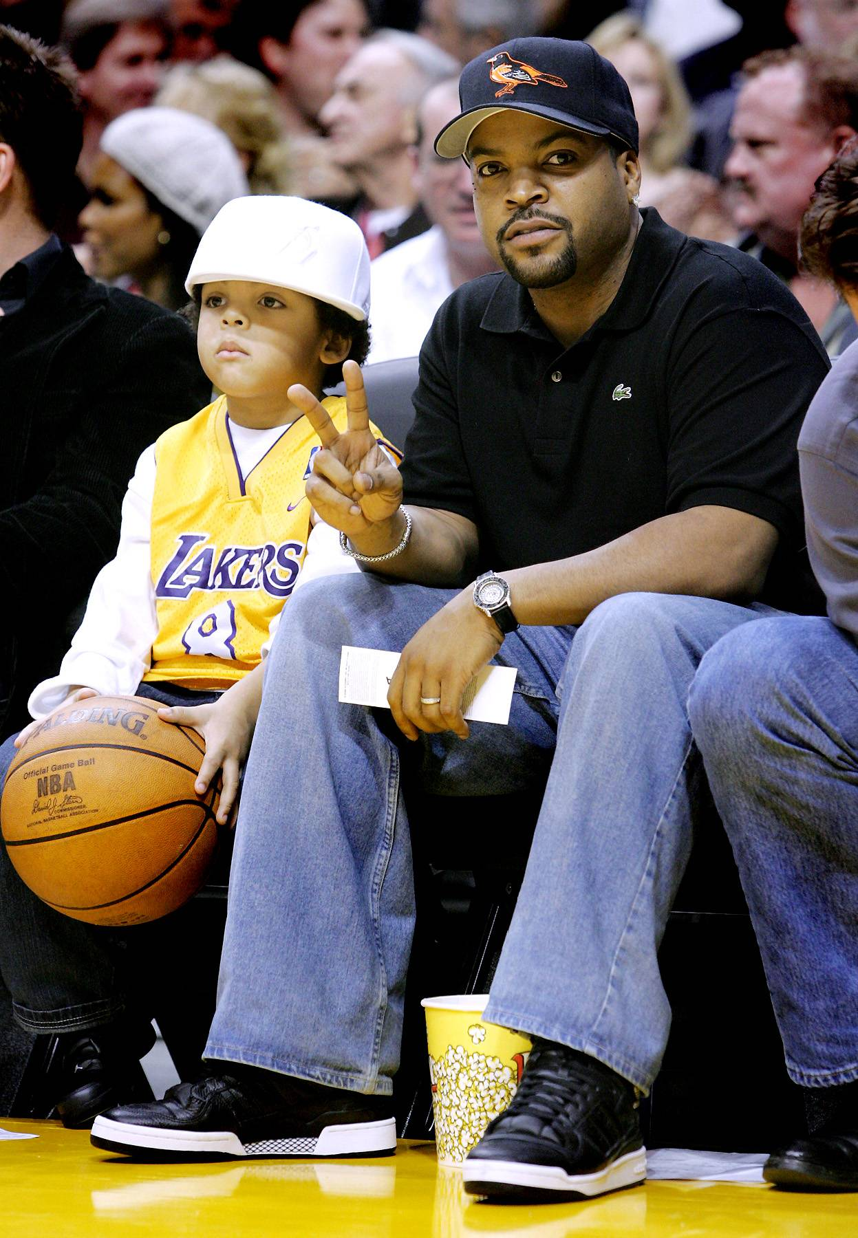 """Ice Cube - Ice Cube is real vocal about his love for the L.A. Lakers (and disdain for Dwight Howard). He says he's been a fan since he was """"in the womb"""" and goes to """"every game.""""(Photo: Vince Bucci/Getty Images)"""
