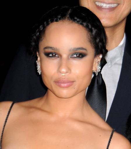 Zoë Kravitz - The starlet always delivers when she's snapped on the carpet. Adore the braided hairstyle and highlighted cheeks.  (Photo: Darla Khazei, PacificCoastNew)