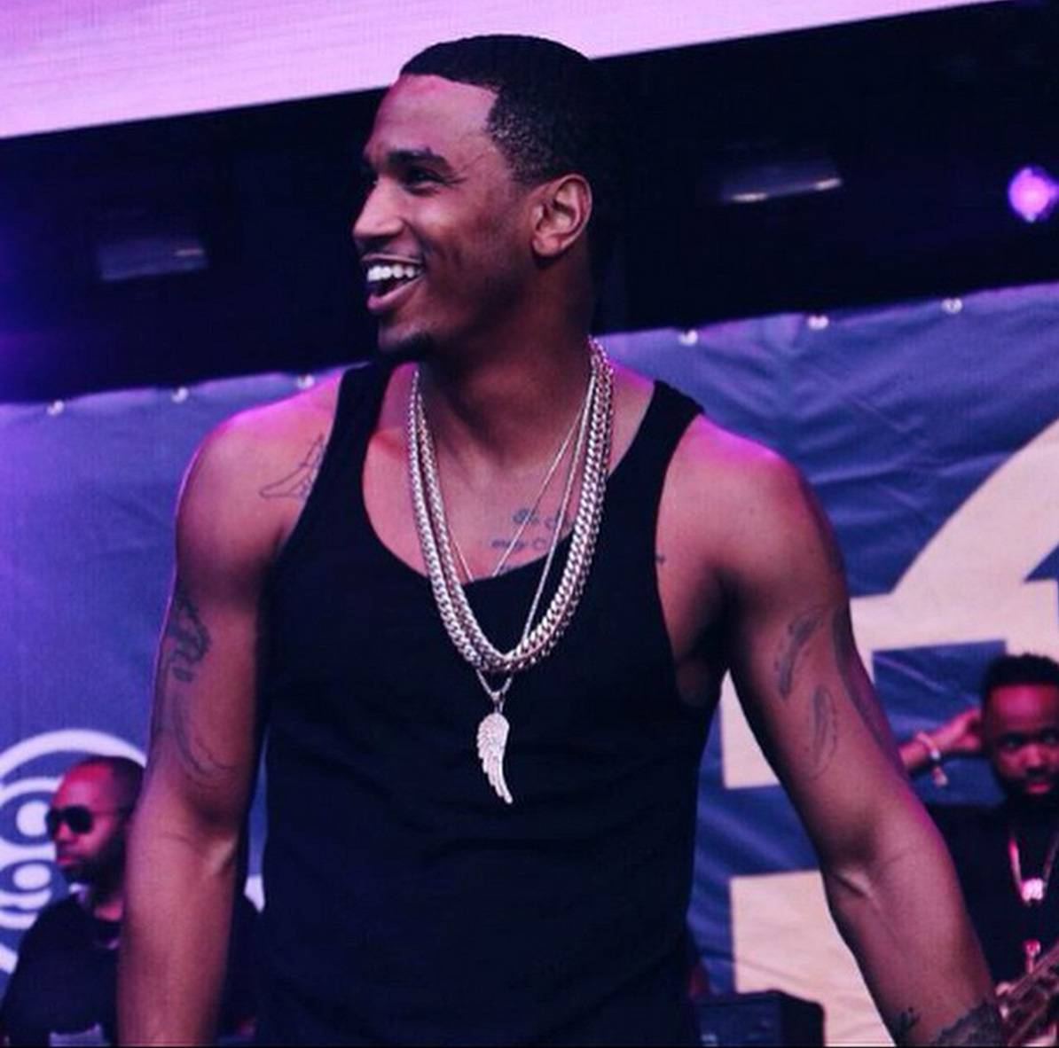 Just Getting Off the Stage - BET's bae. (Photo: Trey Songz via Instagram)