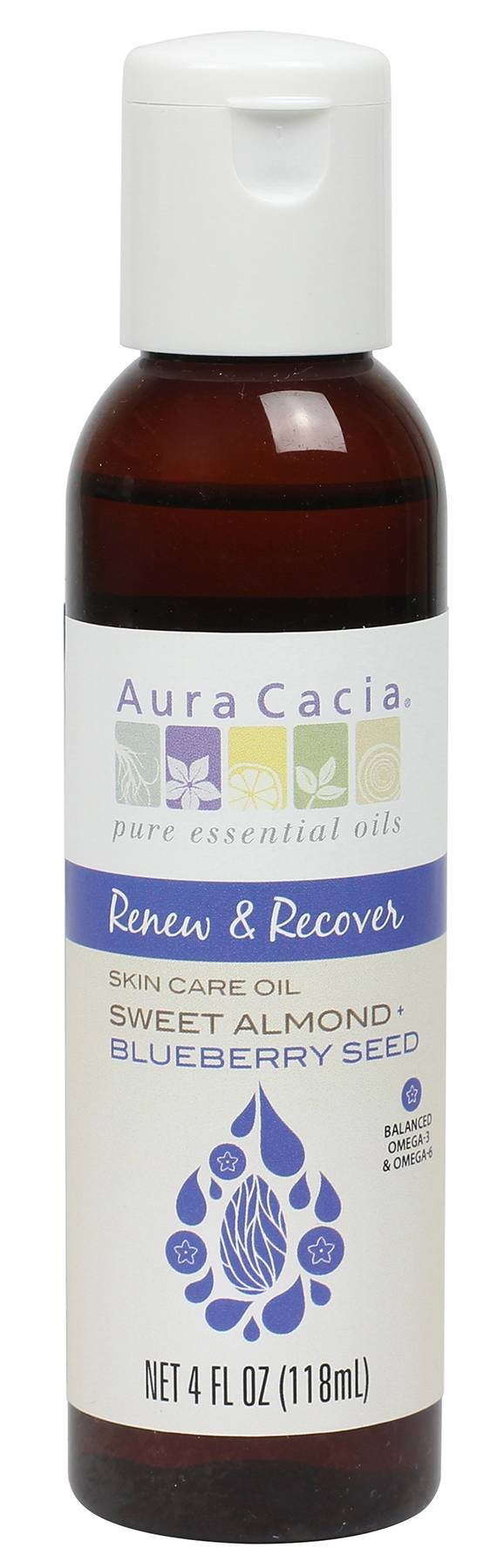 Aura Cacia Sweet Almond + Blueberry Seed Oil - $12.49 - Almonds + Blueberries ? doesn?t it just sound delicious? Sweet almond oil is loaded with Omega-9, and Blueberry seed oil is balanced in Omega-3 and Omega-6. This highly emollient oil helps reduce flaking and is perfect to protect from the cold weather.(Photo: Courtesy www.auracacia.com)