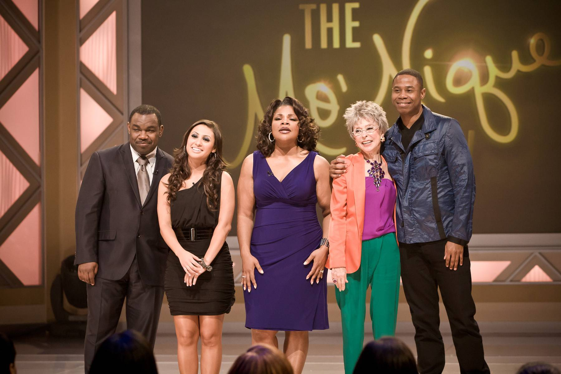 Farewell to Another Great Episode! - From left: Rodney Perry, Francis Raisa, Mo'Nique, Rita Moreno and Doug E. Fresh.(Photo: Darnell Williams/BET)