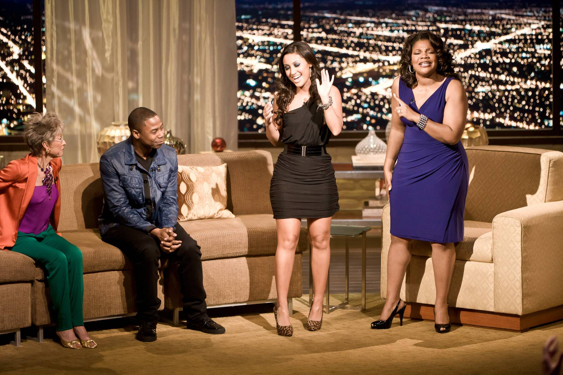 Intimate Discussion - Francia Raisa, star of The Secret Life of the American Teenager, drops in to discuss her character Adrian Lee.(Photo: Darnell Williams/BET)