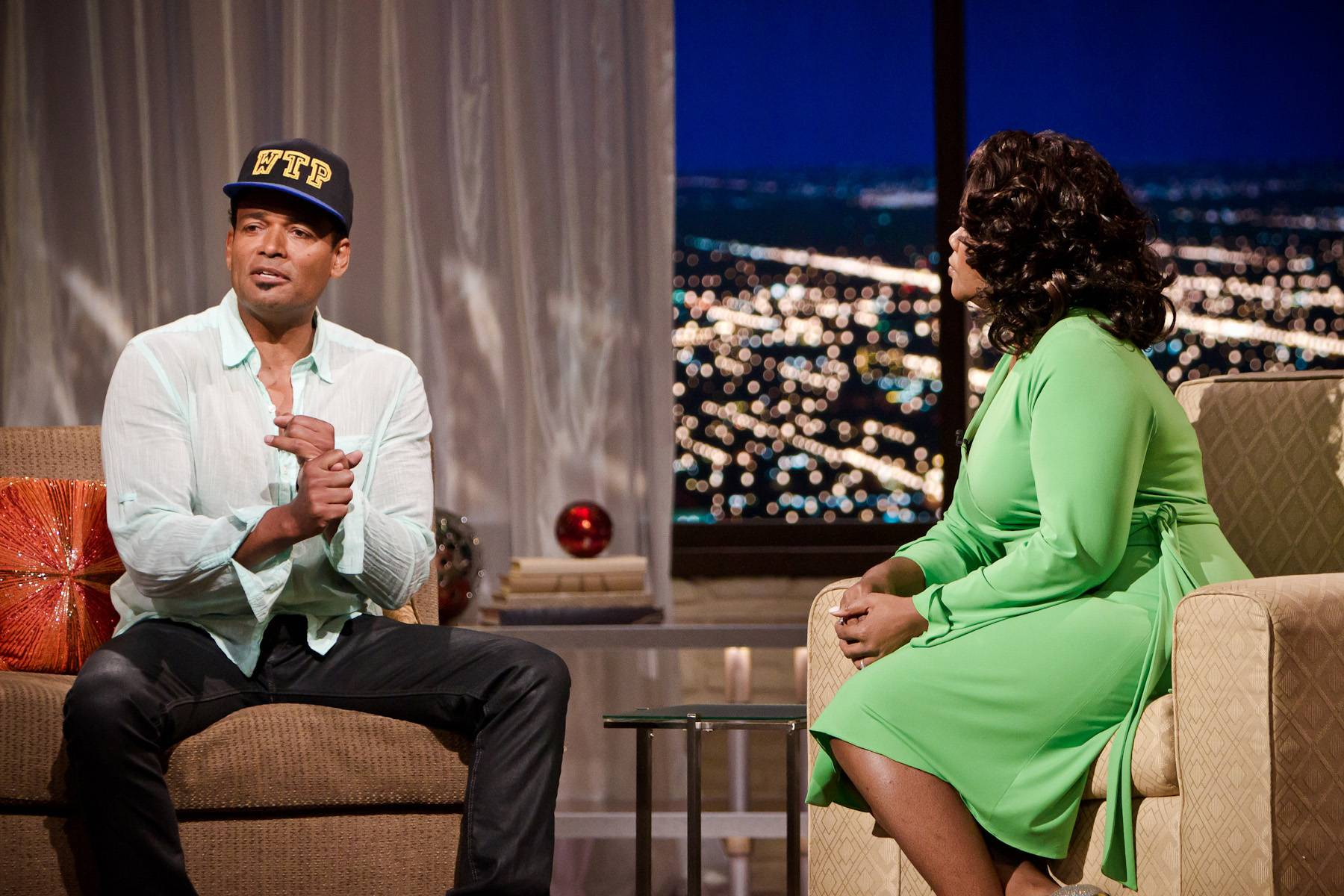 Running These Streets - Mo'Nique took a moment to discuss Van Peebles' appearance on The Game. During the episode, his character and Tasha Mack (portrayed by Wendy Raquel Robinson) run through the streets in their undergarments.(Photo: Darnell Williams/BET)