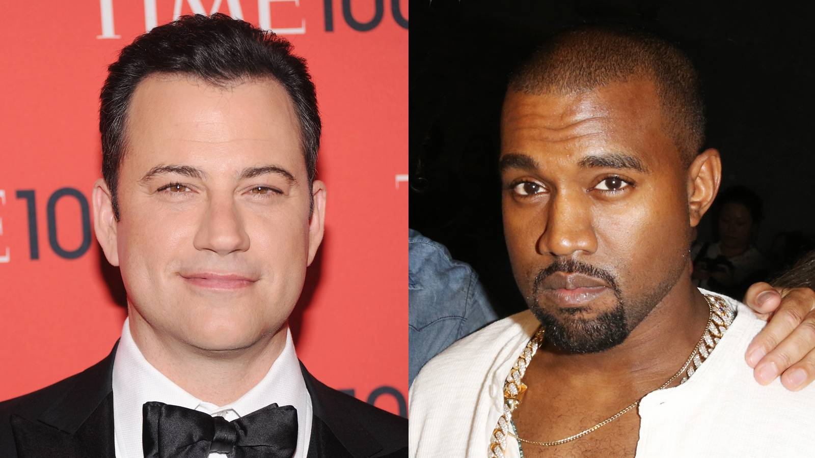 """Kanye West Deletes Tweets From JimmyKimmel Feud - It can be said that very few celebrities are more unapolgetically outspoken than rapper Kanye West. So, when he deleted his more than a dozen combative tweets aimed at late night talk show host Jimmy Kimmel, many were surprised.Tweet: """"SHOULD I DO A SPOOF ABOUT YOUR FACE OR YOU F-----G BEN AFFLECK ... #NODISREPECTTOBENAFFLECK #ALLDISRESPECTTOJIMMYKILLEL!!!!""""(Photos from left: Jamie McCarthy/Getty Images, Chelsea Lauren/Getty Images for Mercedes-Benz Fashion Week Spring 2014)"""