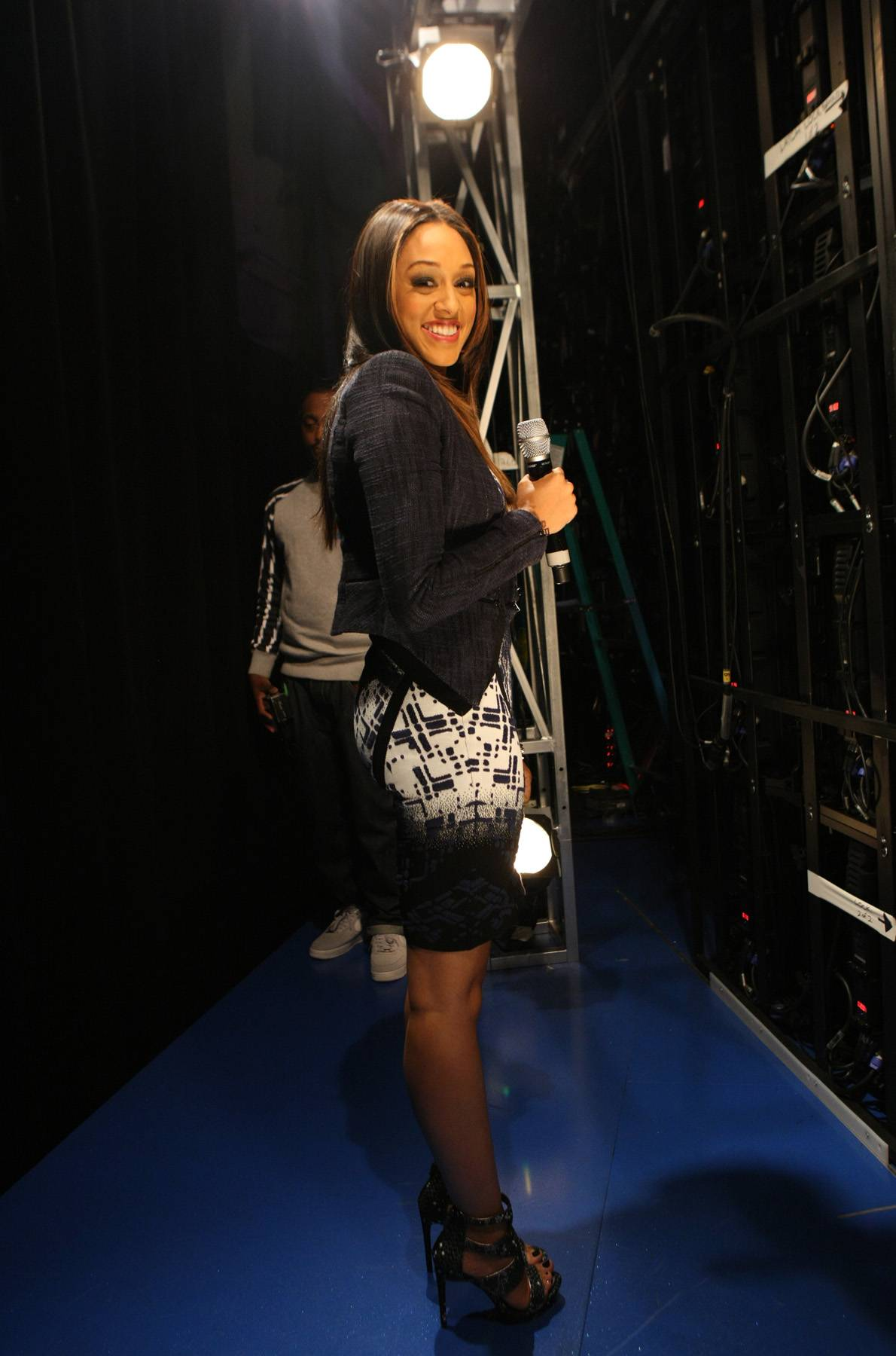 Effortless - Actress Tia Mowry gives an effortless smile while backstage at 106. (Photo: Bennett Raglin/BET/Getty Images for BET)